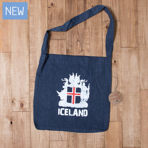 Icelandic Coat of Arms - Tote Bag - Dark Blue