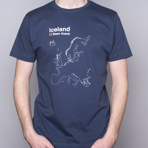 Been There - T-Shirt - Denim Blue - Idontspeakicelandic