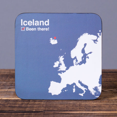 Been There - Set of 6 Cork Coasters - Idontspeakicelandic