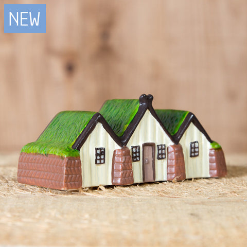 Icelandic Turf House - Ceramic Decor House Figurine