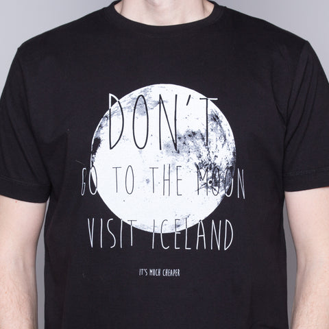Don't Go To the Moon - T-Shirt - Black - Idontspeakicelandic