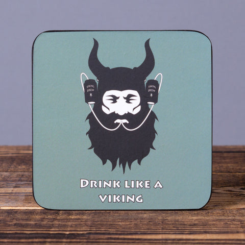Drink Like a Viking - Set of 6 Cork Coasters - Idontspeakicelandic