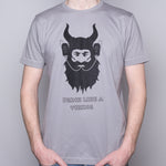 Drink Like a Viking - T-Shirt - Light Gray - Idontspeakicelandic