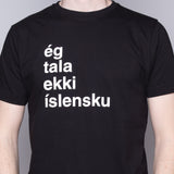 I Don't Speak Icelandic - T-Shirt - Black - Idontspeakicelandic