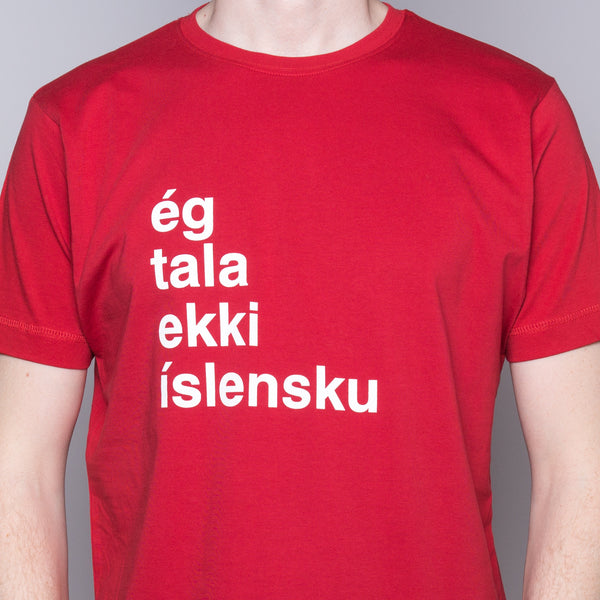 I Don't Speak Icelandic - T-Shirt - Red