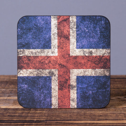 Iceland Flag - Cork Coaster