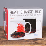 Wolcano Eruption - Heat Change Mug - White - Idontspeakicelandic