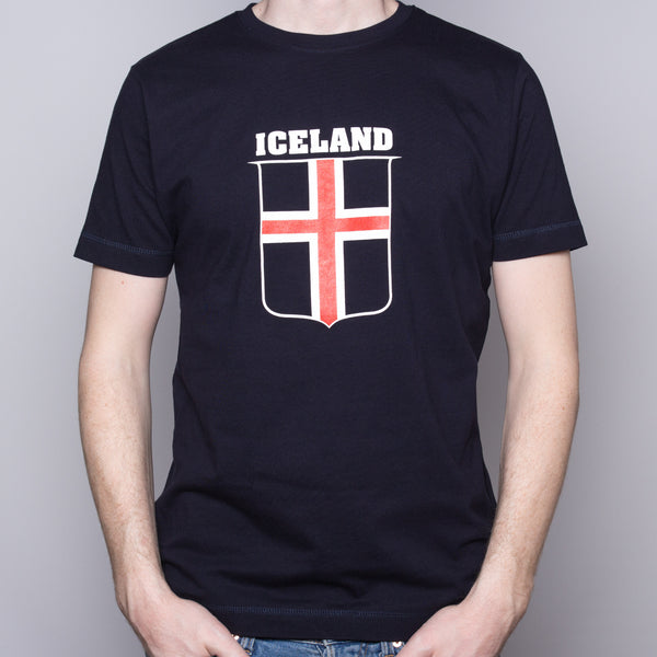 Icelandic Flag - T-Shirt - Navy
