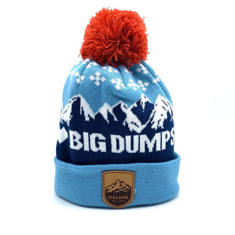 I Heart Big Dumps Beanie - Mont Iceland Leather Patch