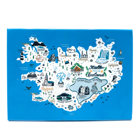 Iceland Map - Magnet