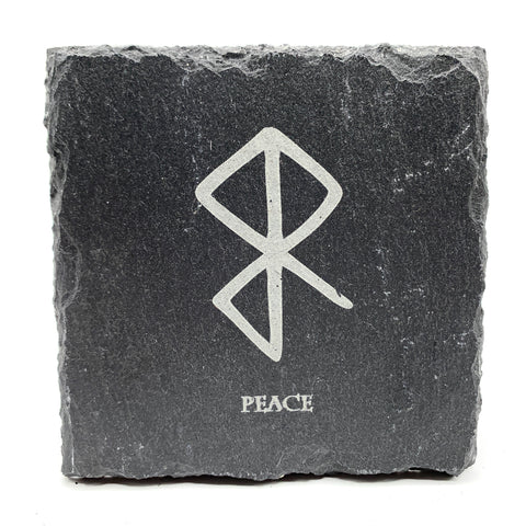 Peace - Viking Rune - Slate Coaster