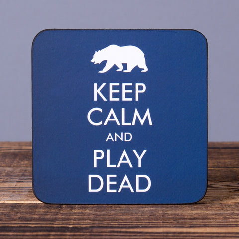 Keep Calm and Play Dead - Set of 6 Cork Coasters