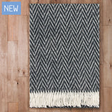 Iida - Quality Wool Blanket from Finland - Black - Idontspeakicelandic