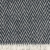 Iida - Quality Wool Blanket from Finland - Black
