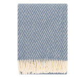 Iida - Quality Wool Blanket from Finland - Blue