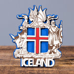 The Icelandic Coat of Arms - Laser Cut Layered Magnet