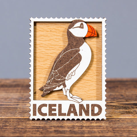Puffin - Laser Cut Layered Magnet