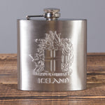 Icelandic Coat of Arms - Hip Flask