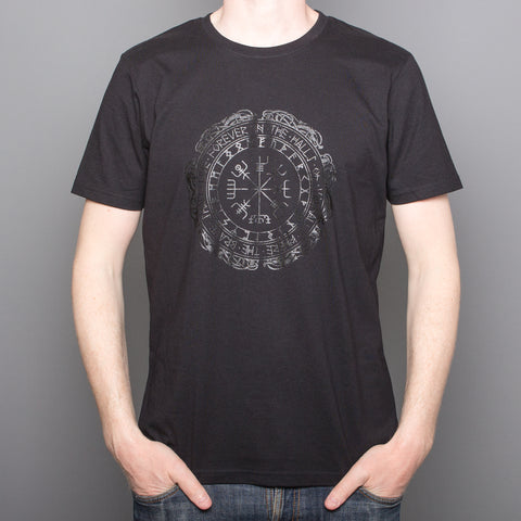 Wayfinder rune - Black on Black Print - T-Shirt - Black