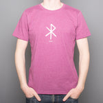 Love rune - T-Shirt - Purple - Idontspeakicelandic