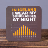 Sunglasses at Night - Set of 6 Cork Coasters - Idontspeakicelandic