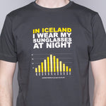 Sunglasses at Night - T-Shirt - Gray - Idontspeakicelandic