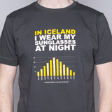 Sunglasses at Night - T-Shirt - Gray