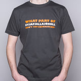 What Part of Eyjafjallajökull... - T-shirt - Gray - Idontspeakicelandic