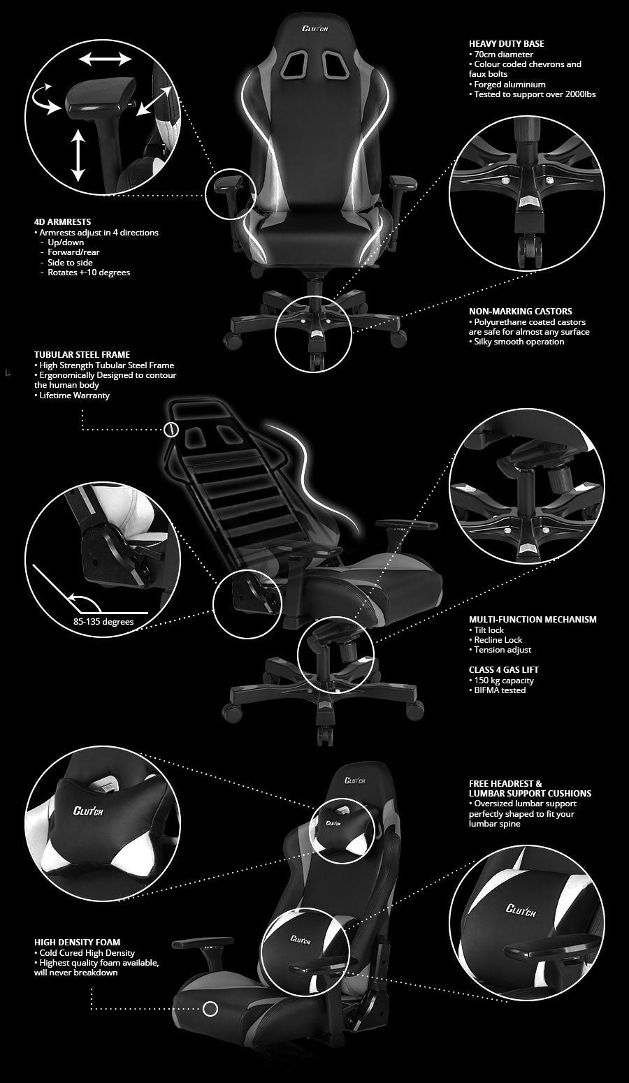 Clutch Throttle Series Echo Gaming Chair