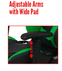 Adjustable Arms with Wide Pad