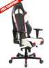 Image of DXRacer Racing Series OH/RH110/NWR Red and White Gaming Chair