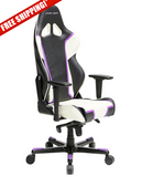 DXRacer Racing Series OH/RH110/NWV Violet & White Gaming Chair