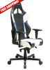 Image of DXRacer Racing Series OH/RH110/NWB Blue and White Gaming Chair
