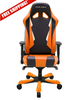 Image of DXRacer Sentinel OH/SK28/NO Orange and Black Gaming Chair