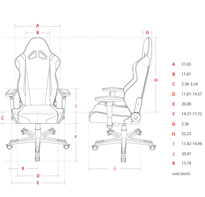 DXRACER Racing Series OH/RE0/NE Gaming Chair