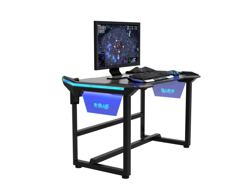 e blue wireless glow gaming desk champs chairs. Black Bedroom Furniture Sets. Home Design Ideas