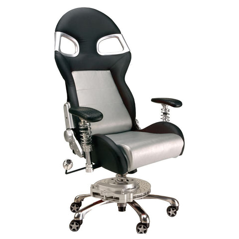 Pitstop XLE Office Chair - Silver