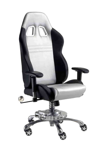 Pitstop GT Office Chair - Sliver