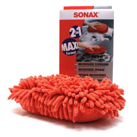 SONAX Microfiber Car Wash Sponge Red