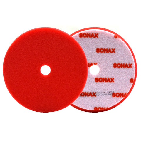 SONAX DA Finishing Pad - Red (Heavy) Small