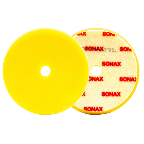SONAX DA Finishing Pad - Yellow (Soft) Small