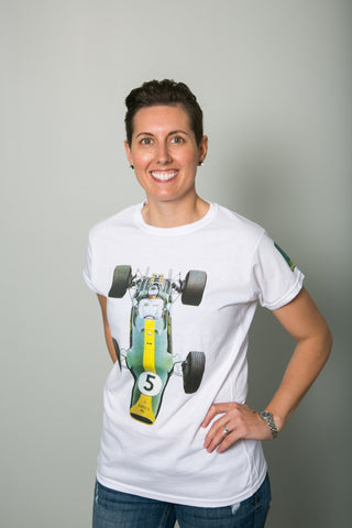 Team Lotus Green Car Womens T-Shirt