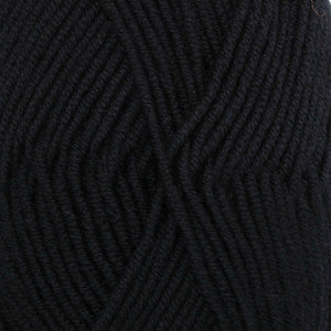 Merino Extra Fine - 02 - Sort - Uni Colour