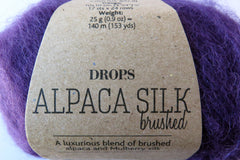 Brushed Alpaca Silk - 10 - Violet - Uni Colour