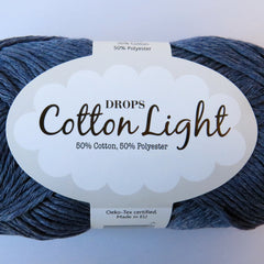 Cotton Light - 26 - Jeansblå - Uni Colour