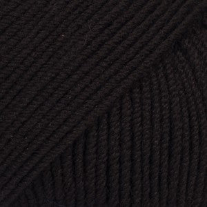 Baby Merino - 21 - Sort - Uni Colour