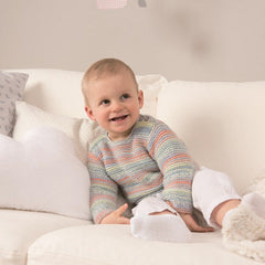 Strikkeopskrift Rico Design - Baby Sweater & Hue