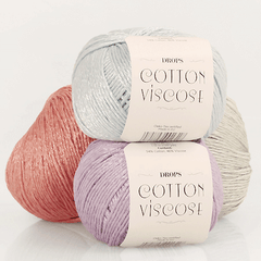Cotton Viscose - 16 - Isblå - Uni Colour
