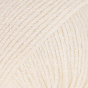 Cotton Merino - 28 - Pudder - Uni Colour