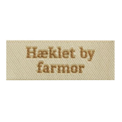 Label - Hæklet by farmor